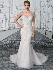 Justin Alexander 8887 Queen Anne Wedding Dress