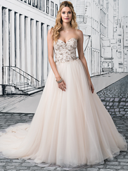 Justin Alexander 8889 Sweetheart Beaded Wedding Dress