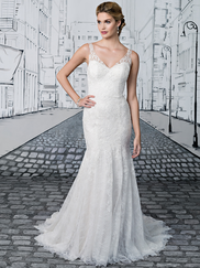 Justin Alexander 8890 V-neck Wedding Dress