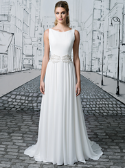 Justin Alexander 8894 Sabrina Neckline Wedding Dress