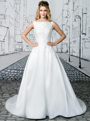 Justin Alexander 8897 Sabrina Neckline Wedding Dress