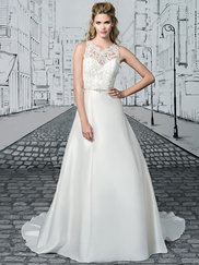 Justin Alexander 8902 Sabrina Neckline Wedding Dress