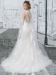 Justin Alexander 8907 V-neck Wedding Dress