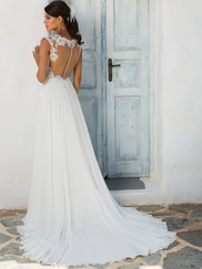 Justin Alexander 8942 Illusion Sabrina Neckline Wedding Dress