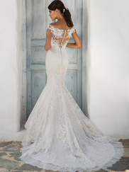 Justin Alexander 8954 Off The Shoulder Wedding Dress