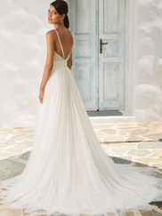 Justin Alexander 8956 Spaghetti Straps Wedding Dress