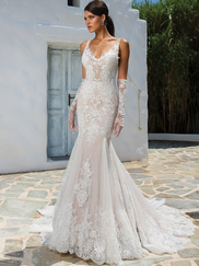 Justin Alexander 8961 V-neckline Wedding Dress