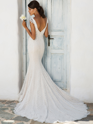 Justin Alexander 8966 V-neckline Wedding Dress