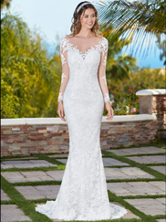 Kitty Chen Illusion Bateau Neckline Bridal Gown Talita