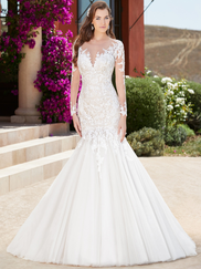 Kitty Chen Illusion Scoop Neckline Bridal Gown Joelle