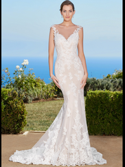 Kitty Chen Illusion Scoop Neckline Bridal Gown Mallory