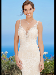 Kitty Chen V-neck Bridal Gown Astrid