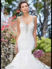 Kitty Chen V-neck Bridal Gown Jennifer