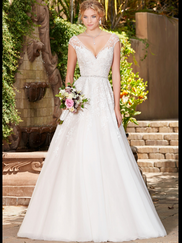 Kitty Chen V-neck Bridal Gown Rebecca
