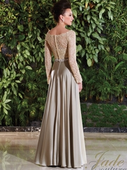Long Sleeves Lace Mother Of The Bride Dress Jade Couture K168015