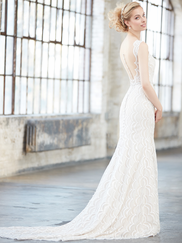 Madison James MJ303 V-neck Wedding Dress