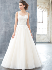 Madison James MJ304 Illusion Jewel Neckline Wedding Dress