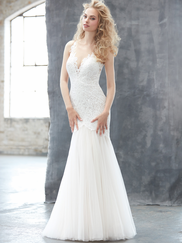 Madison James MJ306 V-neck Wedding Dress