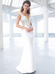 Madison James MJ307 V-neck Wedding Dress