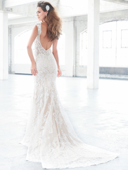 Madison James MJ310 V-neck Wedding Dress