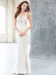 Madison James MJ316 Illusion Jewel Neckline Wedding Dress