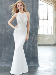 Madison James MJ319 High Neck Wedding Dress