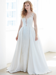 Madison James MJ321 Illusion High Neck Wedding Dress