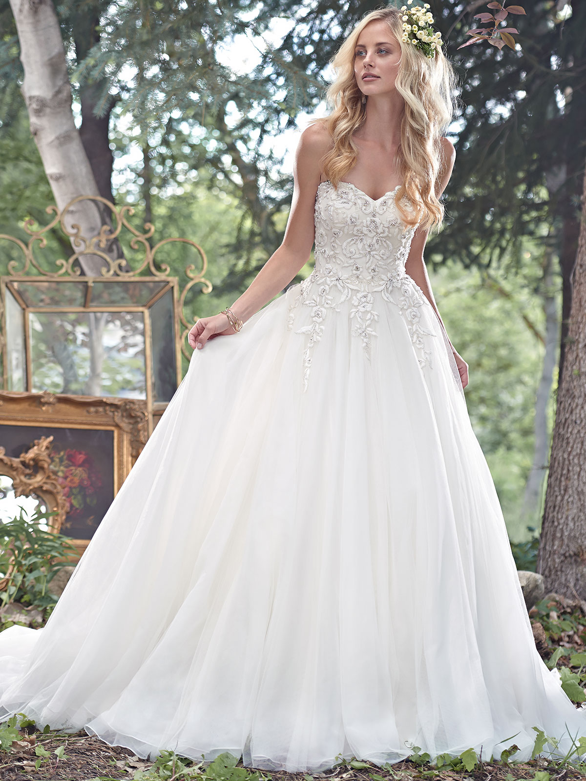 Maggie sottero cameron tulle ball gown bridal dress for Maggie sottero mckenzie wedding dress