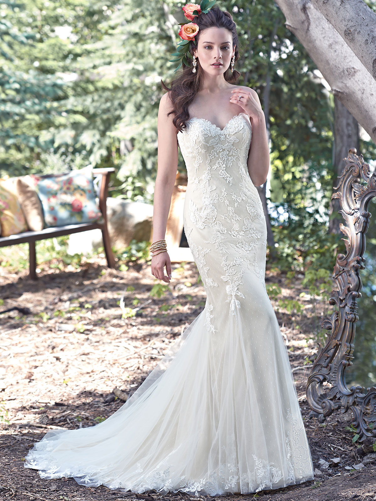 Maggie Sottero Carol Sweetheart Fit And Flare Bridal Dress ...