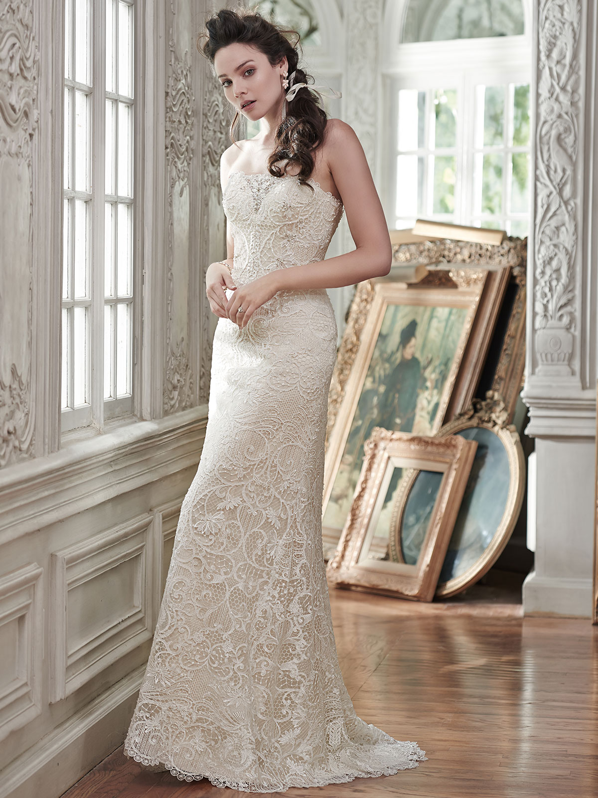 Maggie Sottero Clara Strapless Lace Bridal Gown