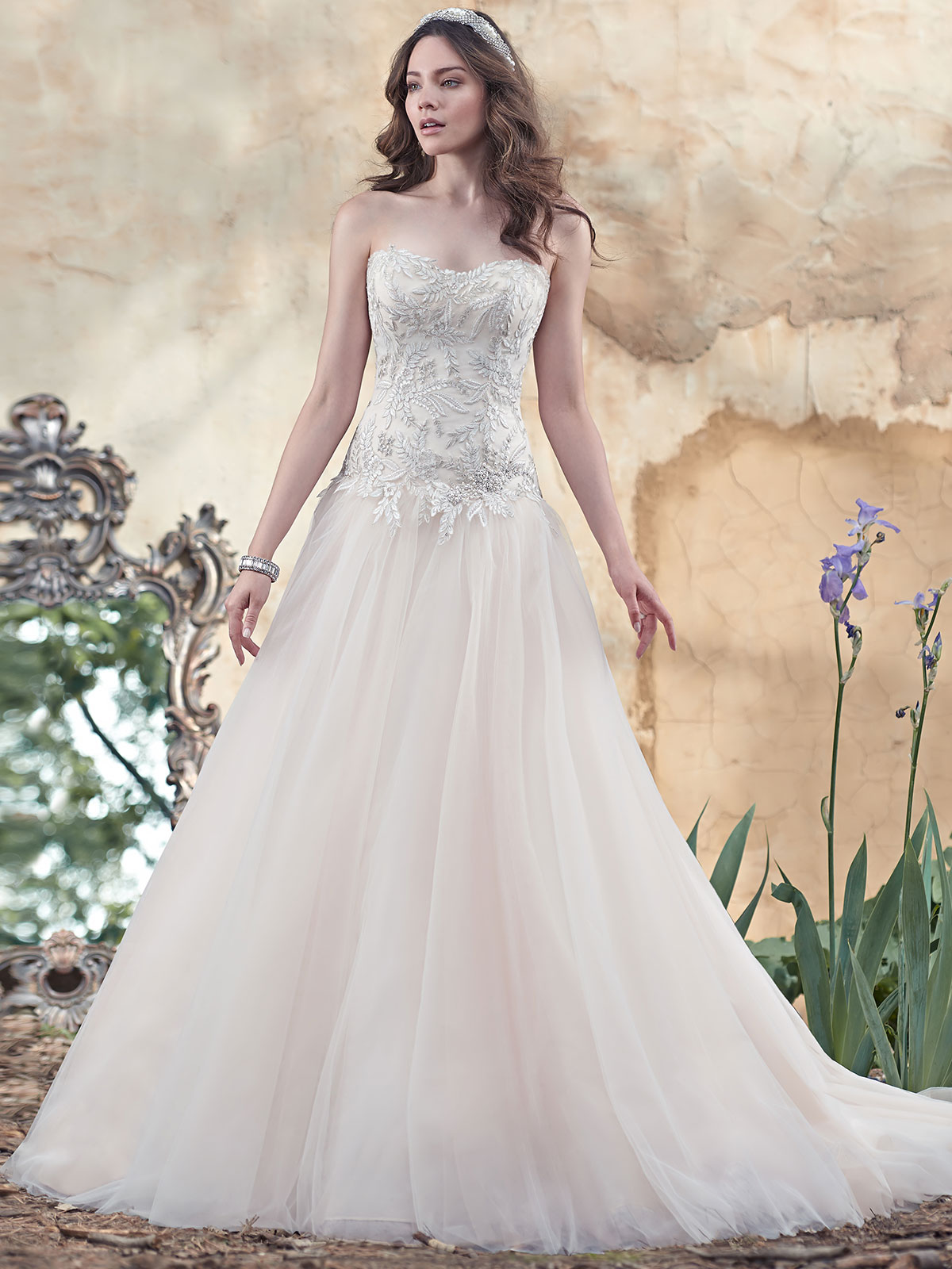 Maggie Sottero Cleo Tulle Ball Gown Bridal Dress DimitraDesigns.com