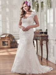 Maggie Sottero Jessica Cap Sleeves Bridal Gown
