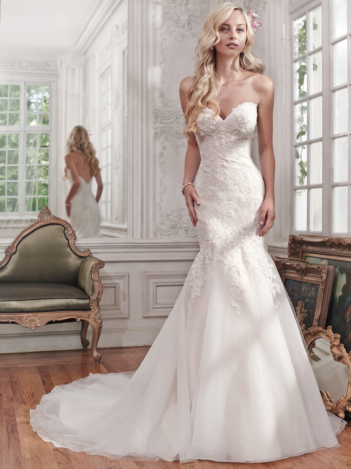 Maggie Sottero Miranda Sweetheart Fit And Flare Bridal Dress ...