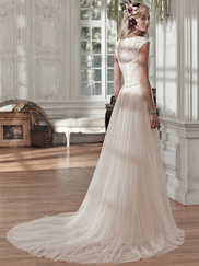 Maggie Sottero Patience Marie Cap Sleeves Bridal Gown