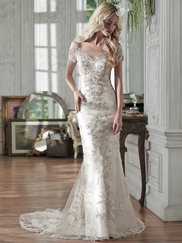 Maggie Sottero Riviera Cap Sleeves Bridal Gown