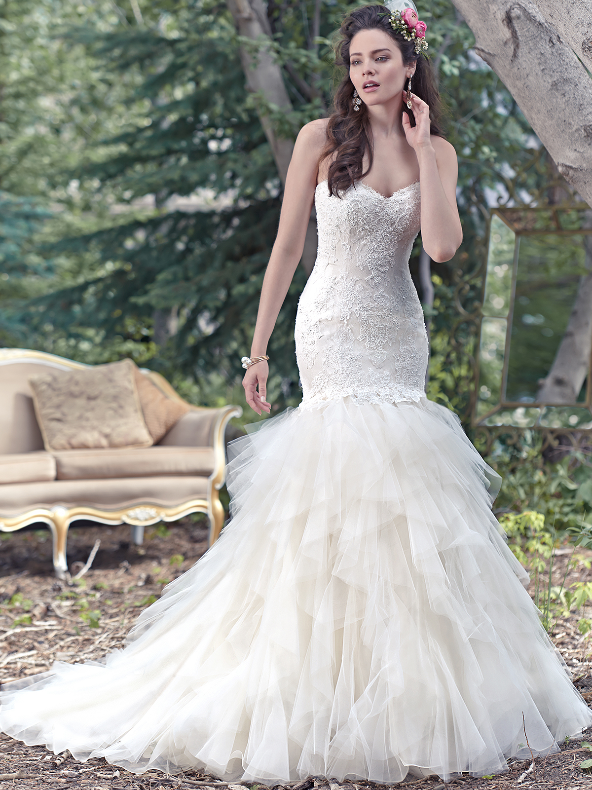 Maggie Sottero Storm Tulle Fit And Flare Bridal Dress|DimitraDesigns.com