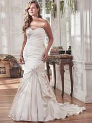 Maggie Sottero Sydney Sweetheart Pleated Bridal Gown