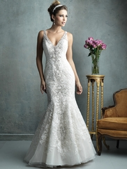 Mermaid V-Neckline Allure Couture Wedding Dress C322