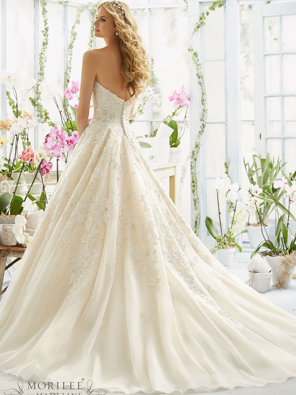 Mori Lee 2808 Sweetheart Ball Gown Bridal Dress Dimitradesigns