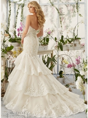 Mori Lee 2810 Sweetheart Lace Bridal Dress