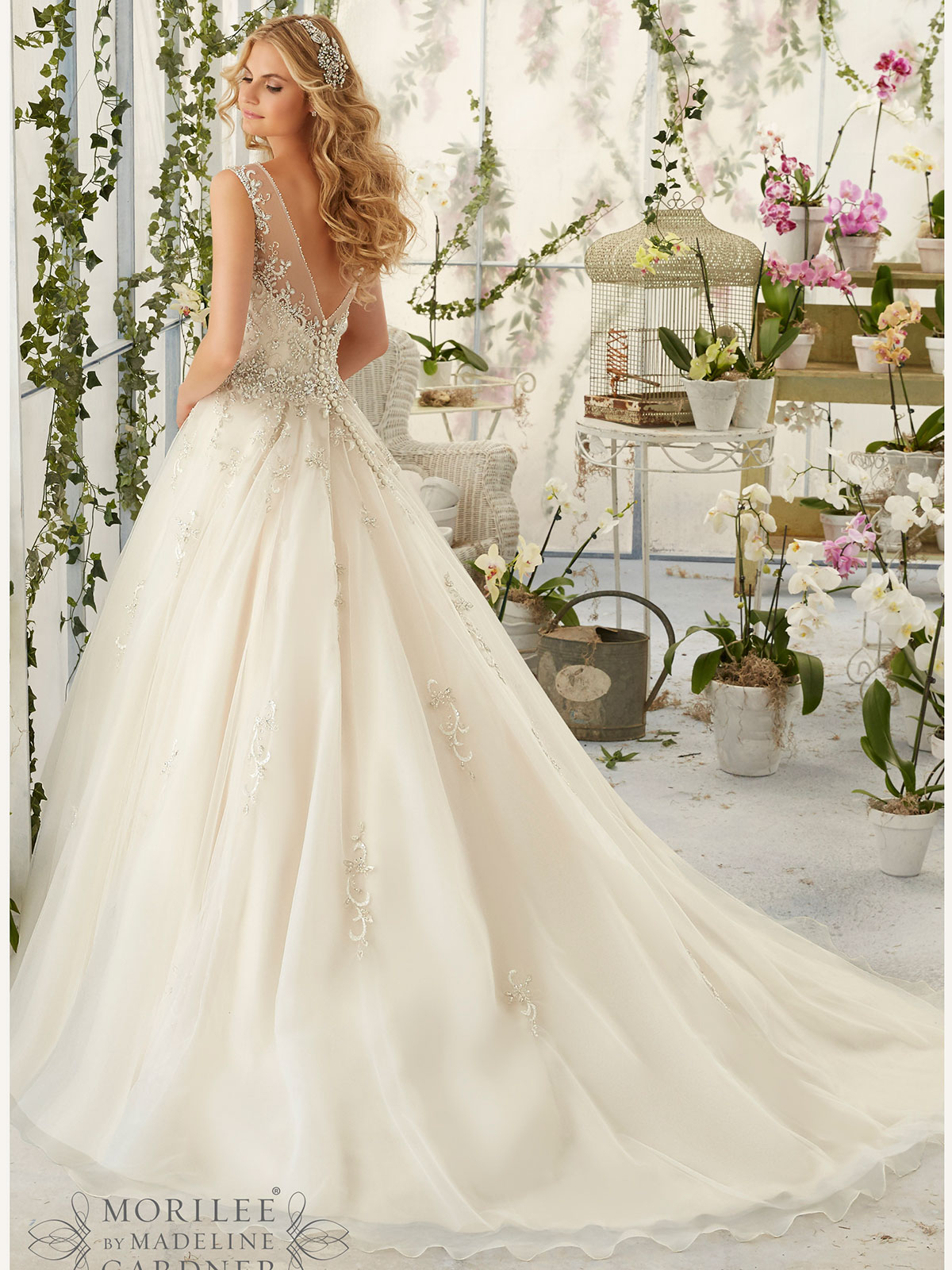 Mori Lee 2818 Tulle Ball Gown Bridal Dress Dimitradesigns