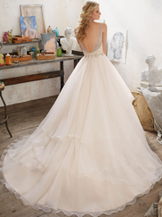 Mori Lee 8105 V-neck Wedding Dress Madison