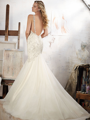 Mori Lee 8107 V-neck Beaded Wedding Dress Maeve