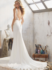 Mori Lee 8113 V-neck Beaded Wedding Dress Mallory