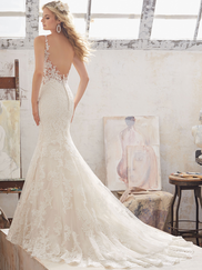 Mori Lee 8115 V-neck Wedding Dress Marcelline