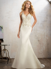 Mori Lee 8121 V-neck Wedding Dress Maria