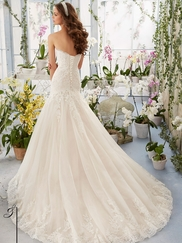 Mori Lee Blu 5402 Sweetheart Lace Wedding Dress