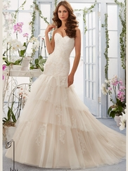 Mori Lee Blu 5405 Sweetheart Wedding Dress