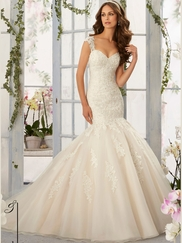 Mori Lee Blu 5407 Sweetheart Wedding Dress