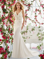 Mori Lee Voyage 6811 V-neck Wedding Dress